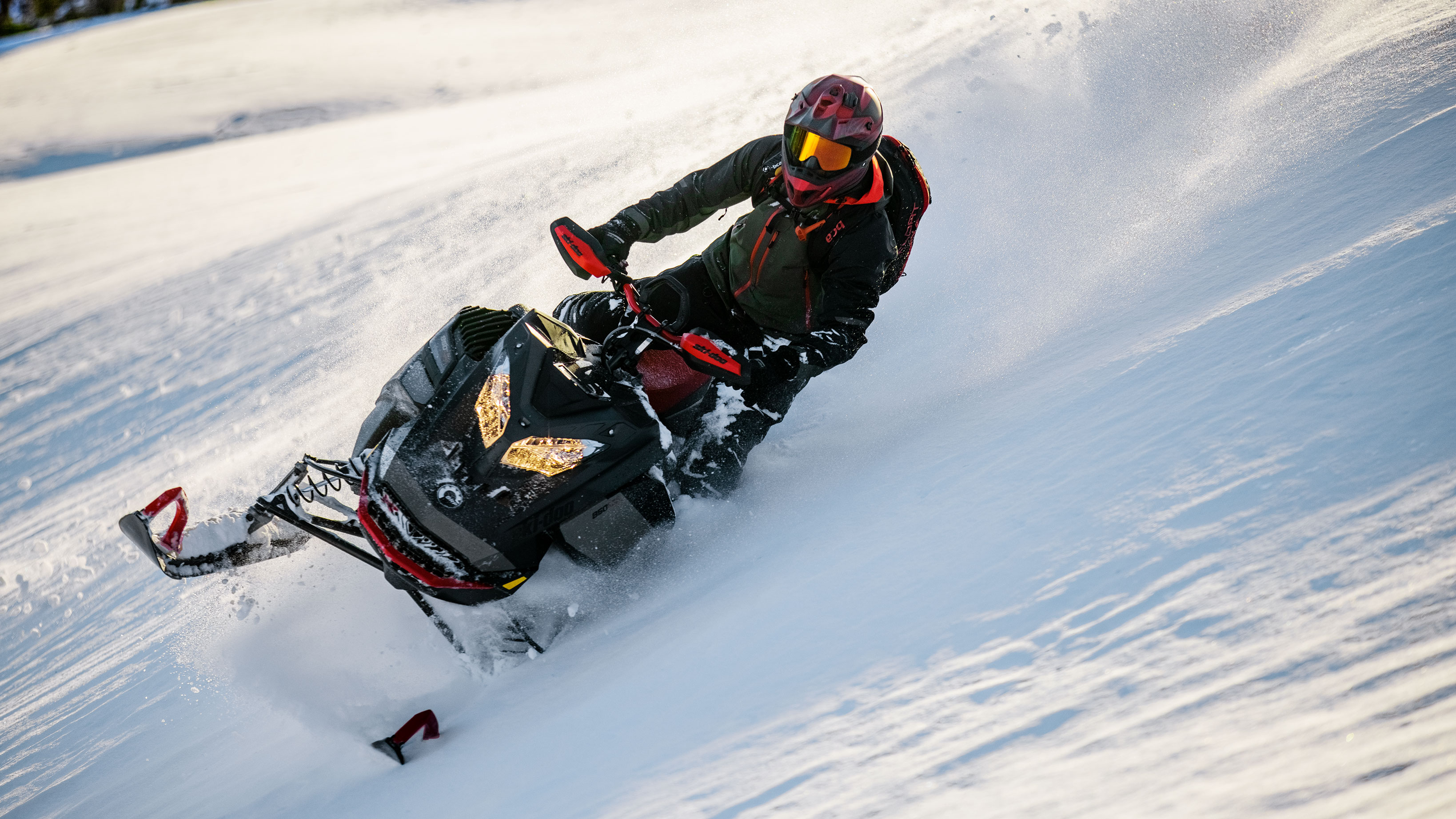 Man riding deep snow with his 2022 Ski-Doo Summit