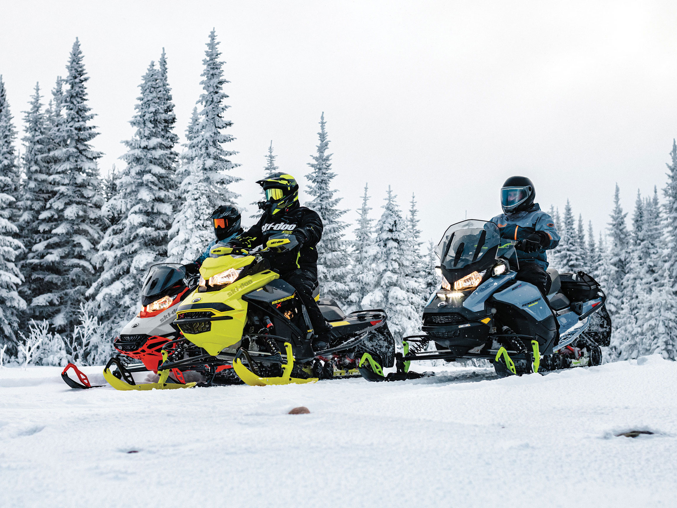 Riders on their Ski-Doo