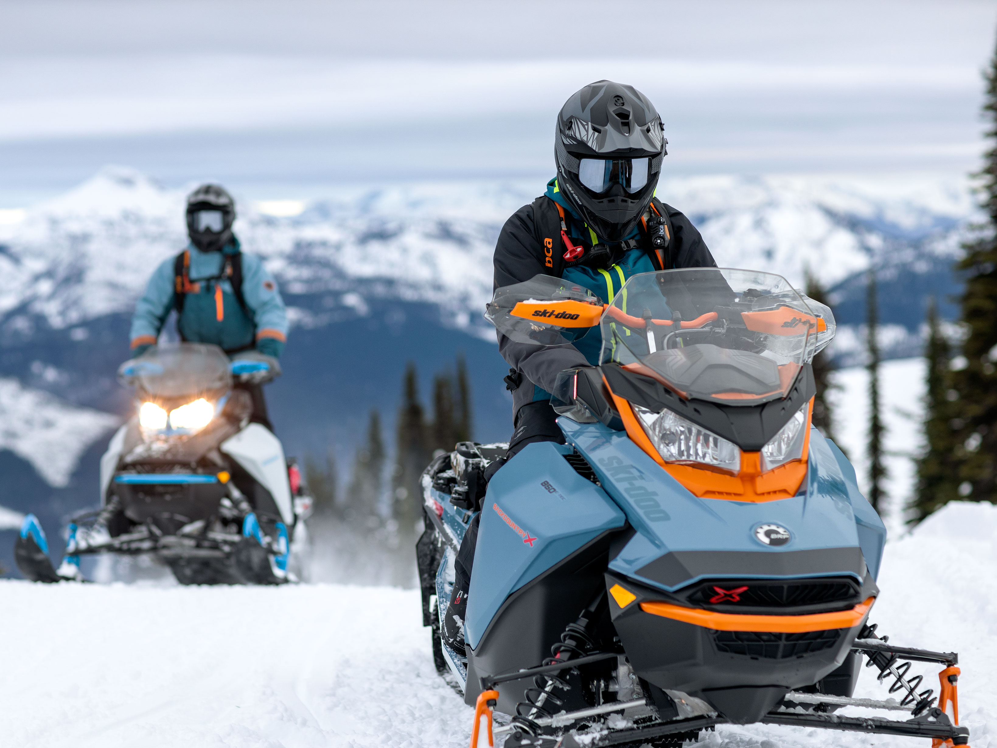 2022 Ski-Doo Backcountry on a trail