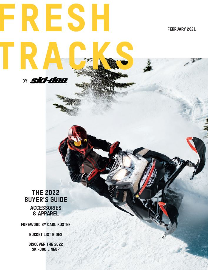 Cover of the Ski-Doo 2022 brochure