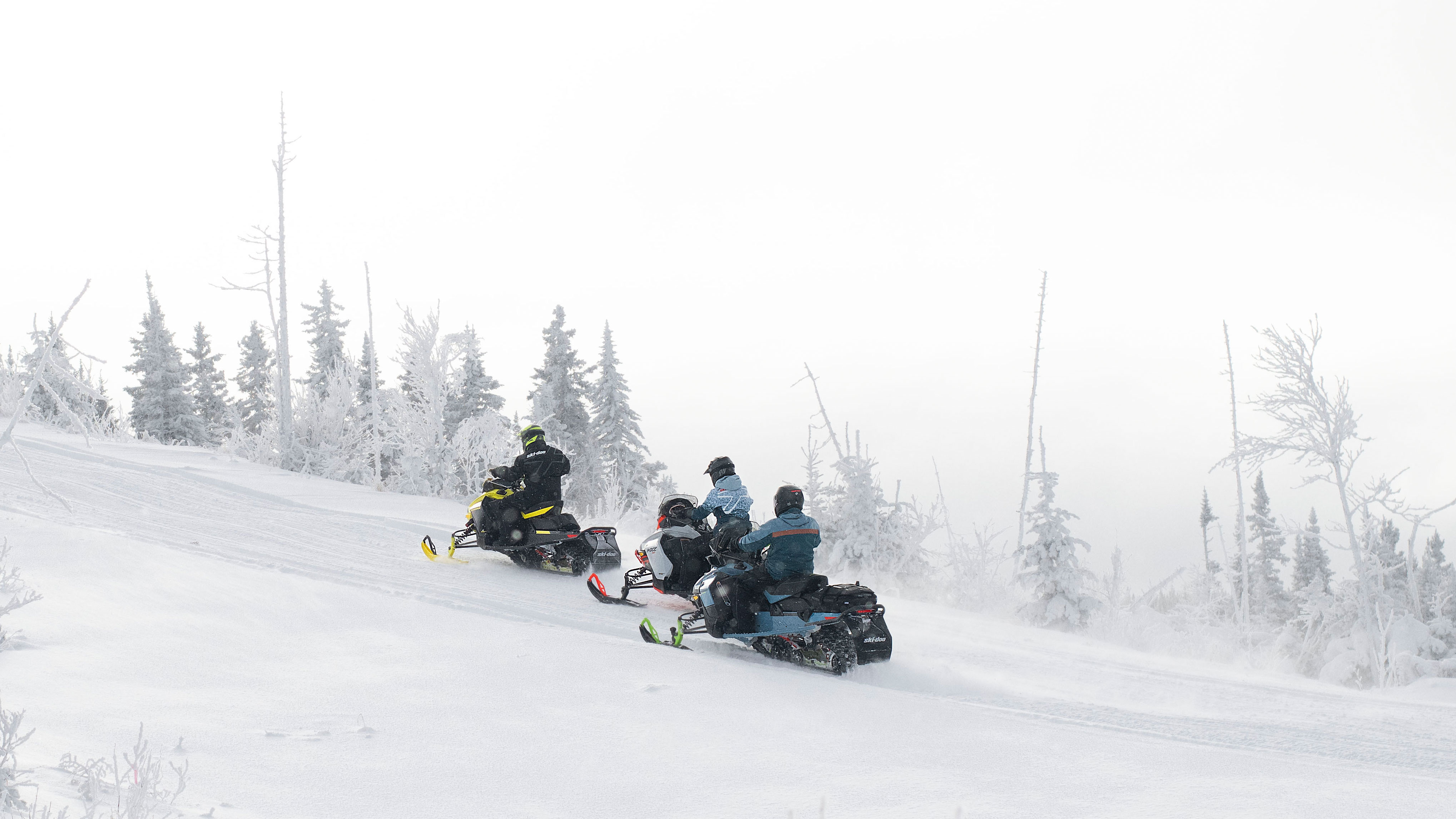 3 riders with the 2022 Ski-Doo Lineup