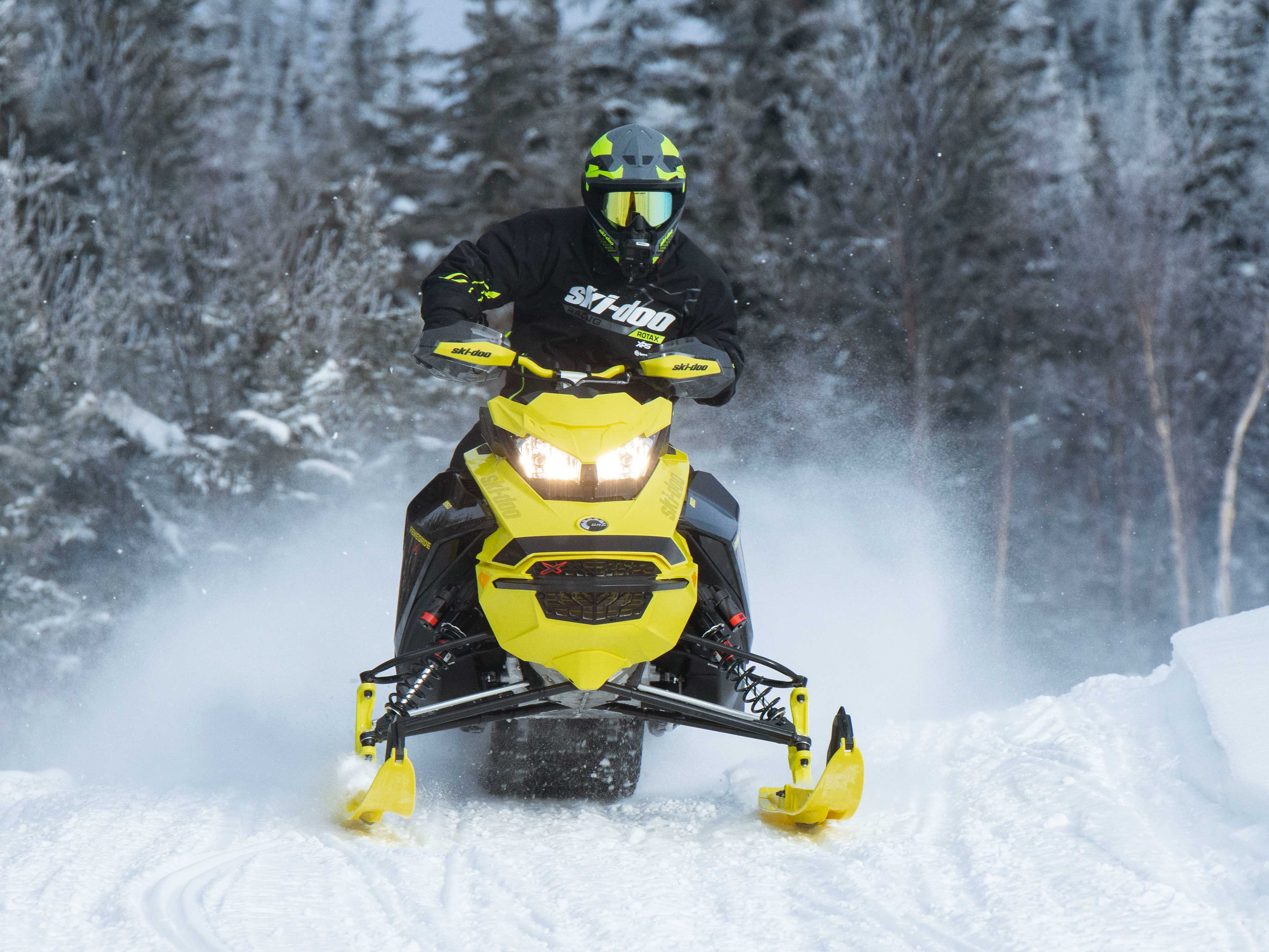 2022 Ski-Doo Renegade on a snowmobile trail