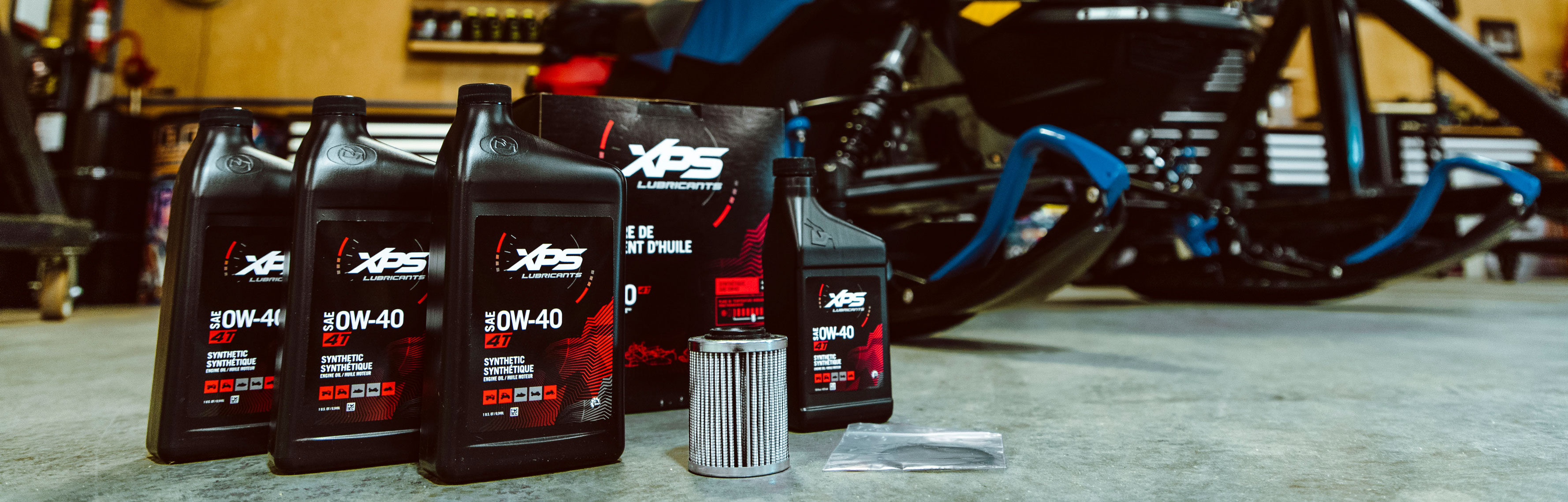 XPS Lubricants and Oil for Summerize your snowmobile