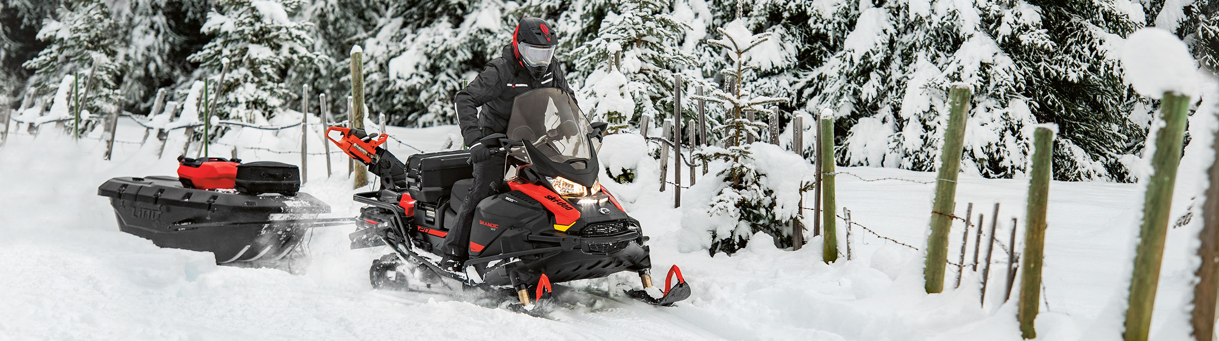 Man going to work with a Ski-Doo Skandic