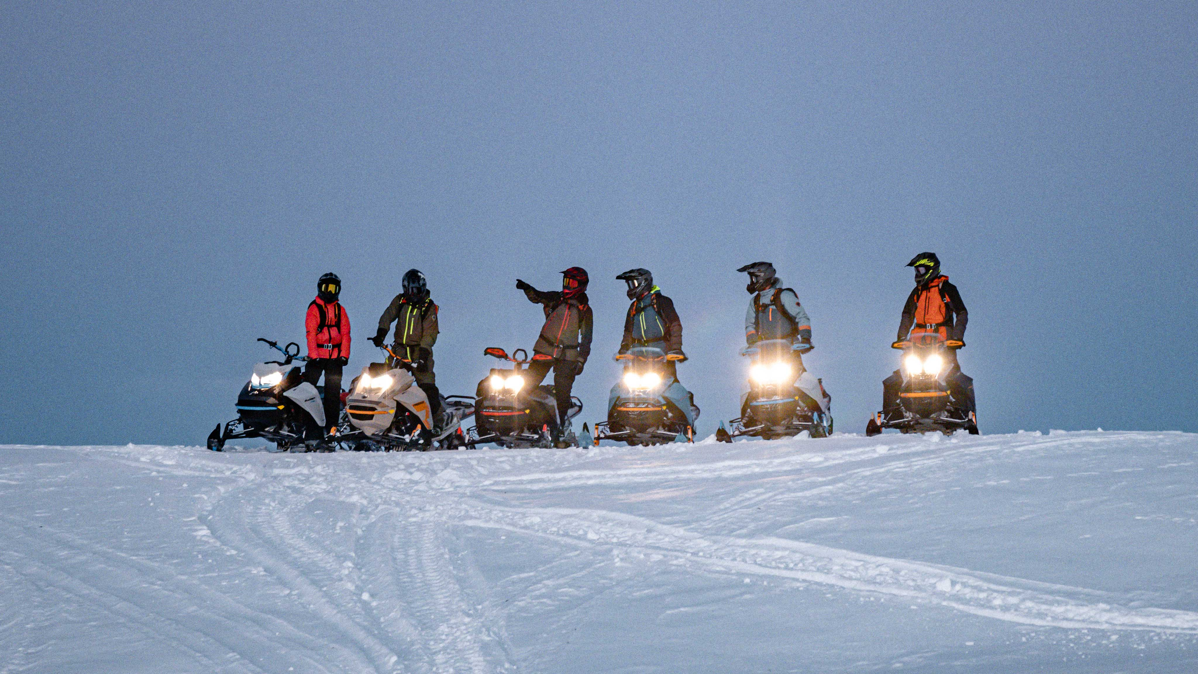 Family riding new 2022 Ski-Doo Lineup