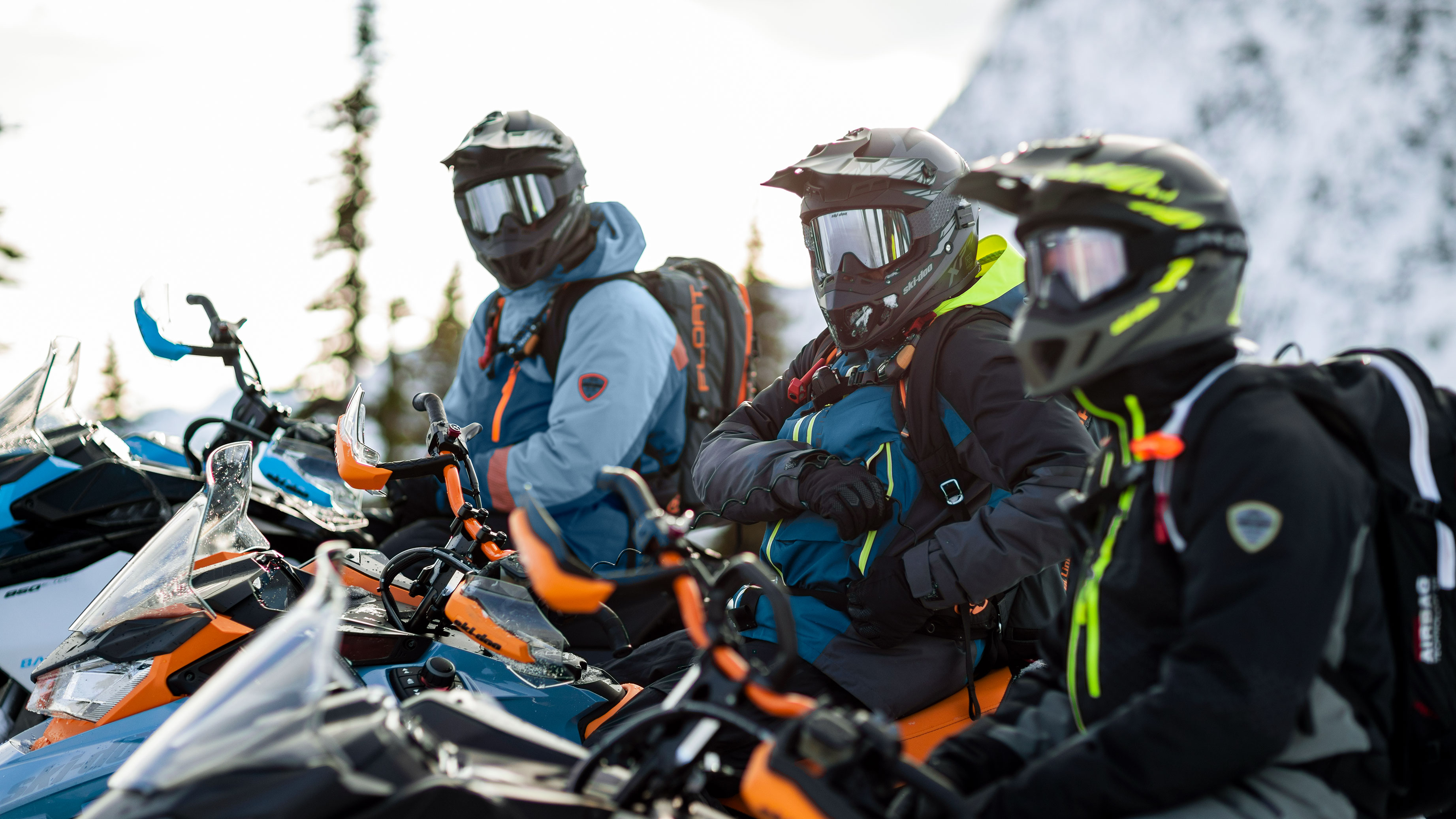 Group of riders with their 2022 Ski-Doo Backcountry