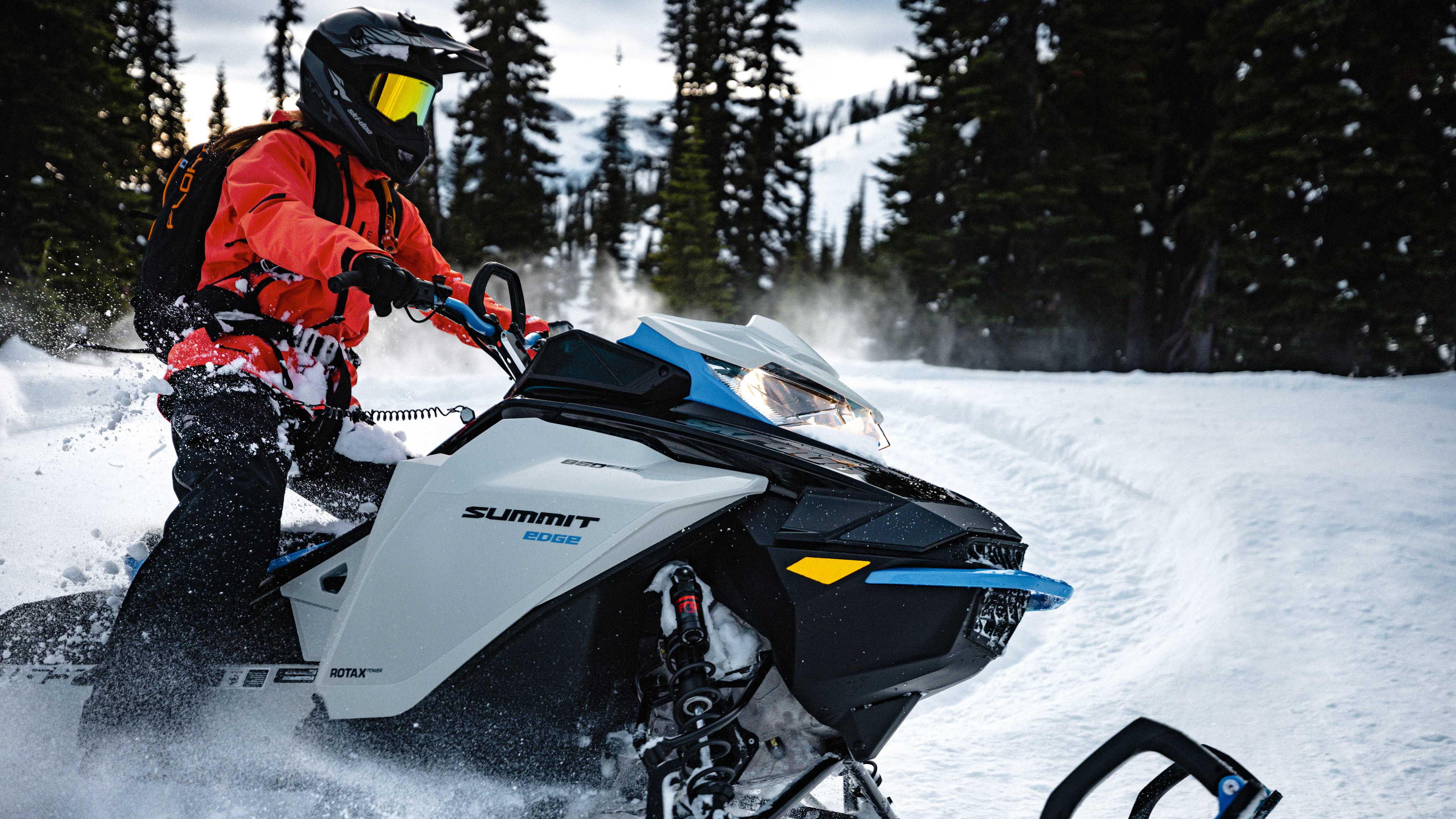 Man driving 2022 Ski-Doo Summit