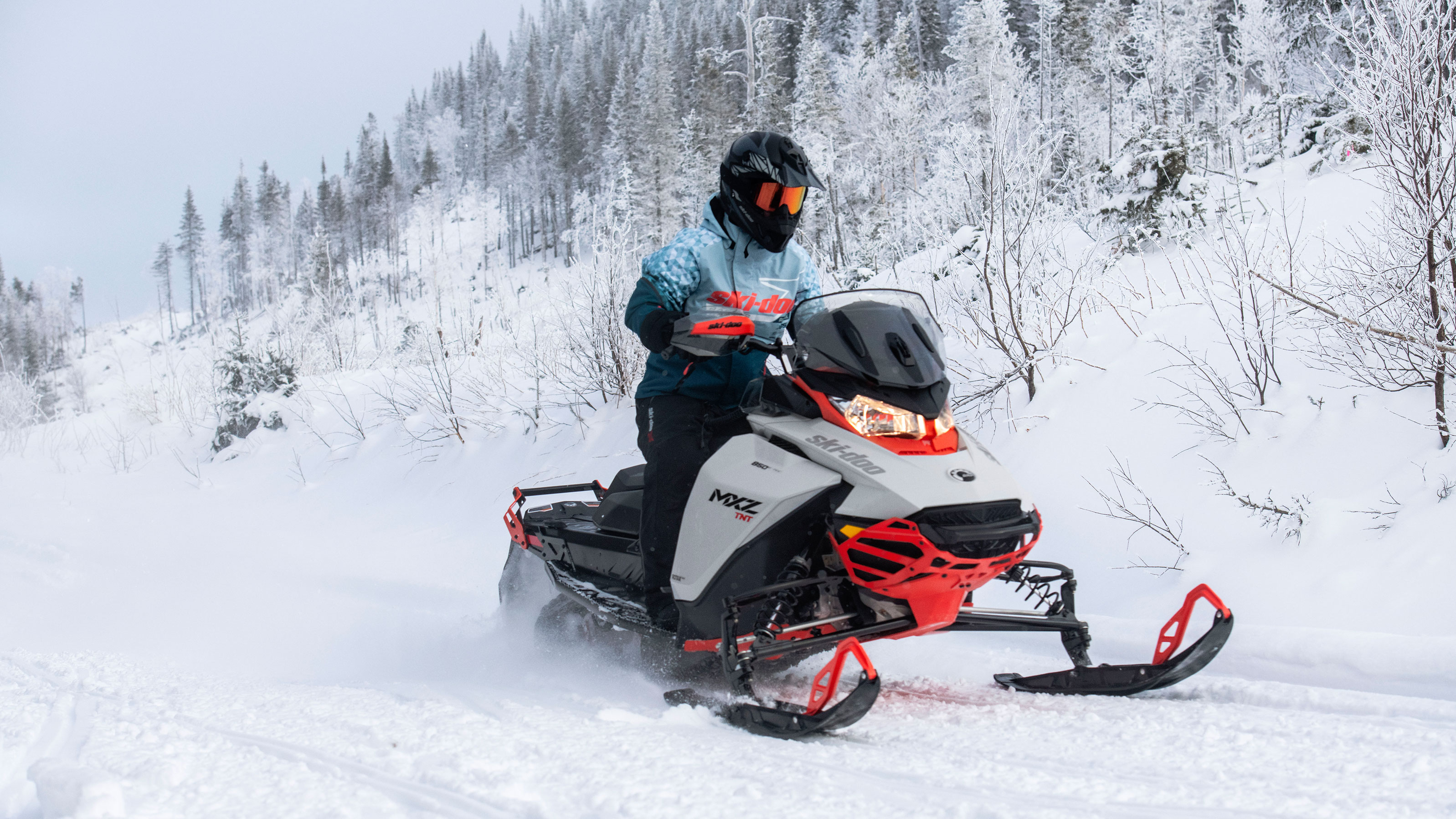 2022 Ski-Doo MXZ on a trail