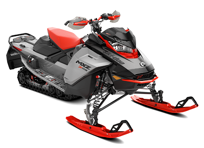 Ski-Doo MXZ X-RS - 850 E-Tec With Adjustable Package - Hyper Silver, Lava Red and Black